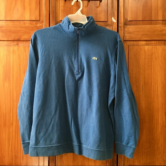 9eab68b91ab Lacoste Sweaters | 6 Mens Quarter Zip Sweatshirt Spell Out | Poshmark